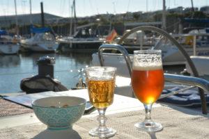 Framme i Cuxhaven blev det en öl, skål!